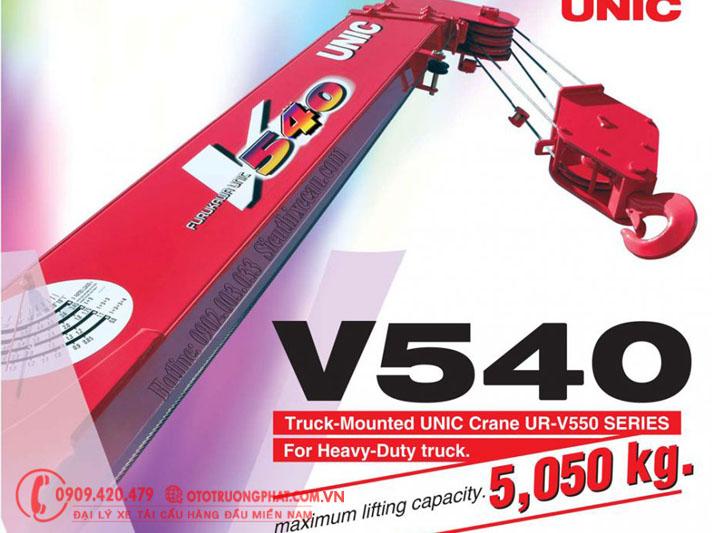 Thông số cẩu Unic V550